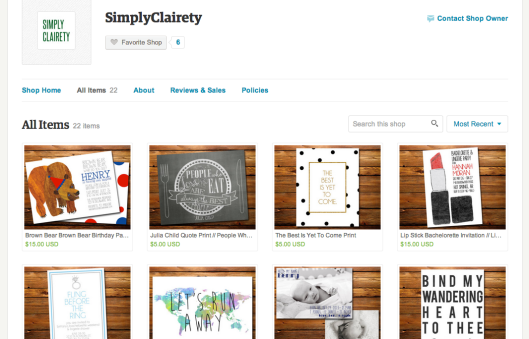 Simply Clairety Etsy